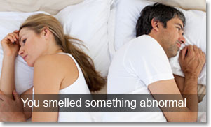 cheating spouses smelled something different